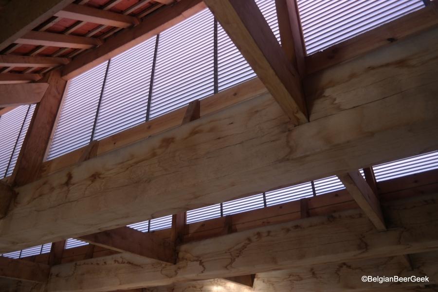 Gerecupereerd hout uit de oude brouwerij